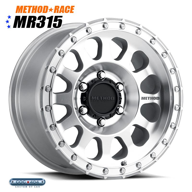【16インチ 8J】Method Race MR315 マシーンドシルバー 1本