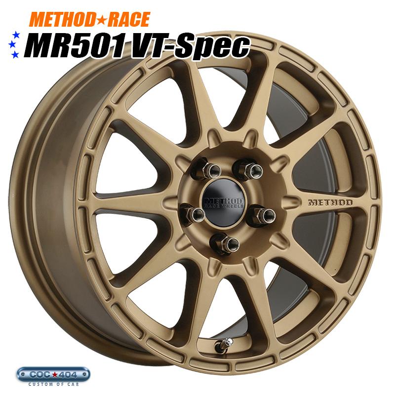 【15インチ】Method Race MR501 Rally VT-Spec ブロンズ 1本 スバル XV インプレッサ レガシー など