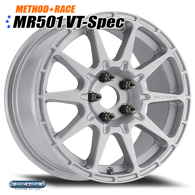 【15インチ】Method Race MR501 Rally VT-Spec シルバー 1本 スバル XV インプレッサ レガシー など