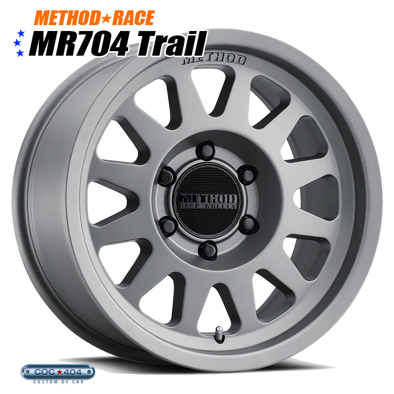 【17インチ】Method Race MR704 チタニウム 1本 ビートグリップ採用!