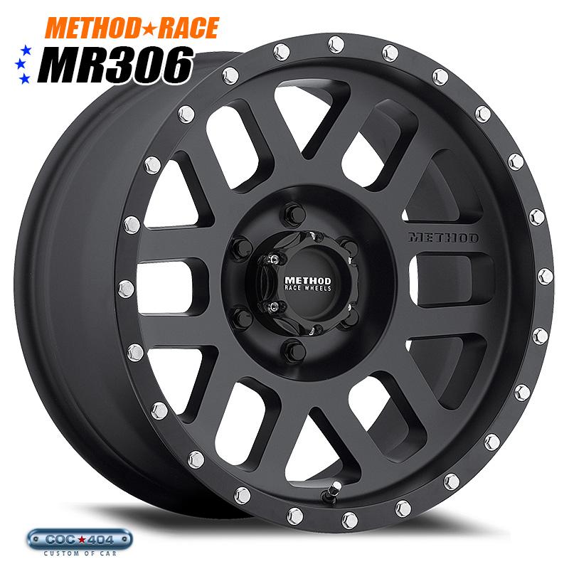 【20インチ】Method Race MR306 Mesh マットブラック 1本