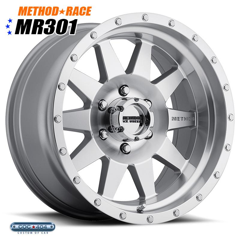 【16インチ】Method Race MR301 The Standard (マシーンドシルバー)1本