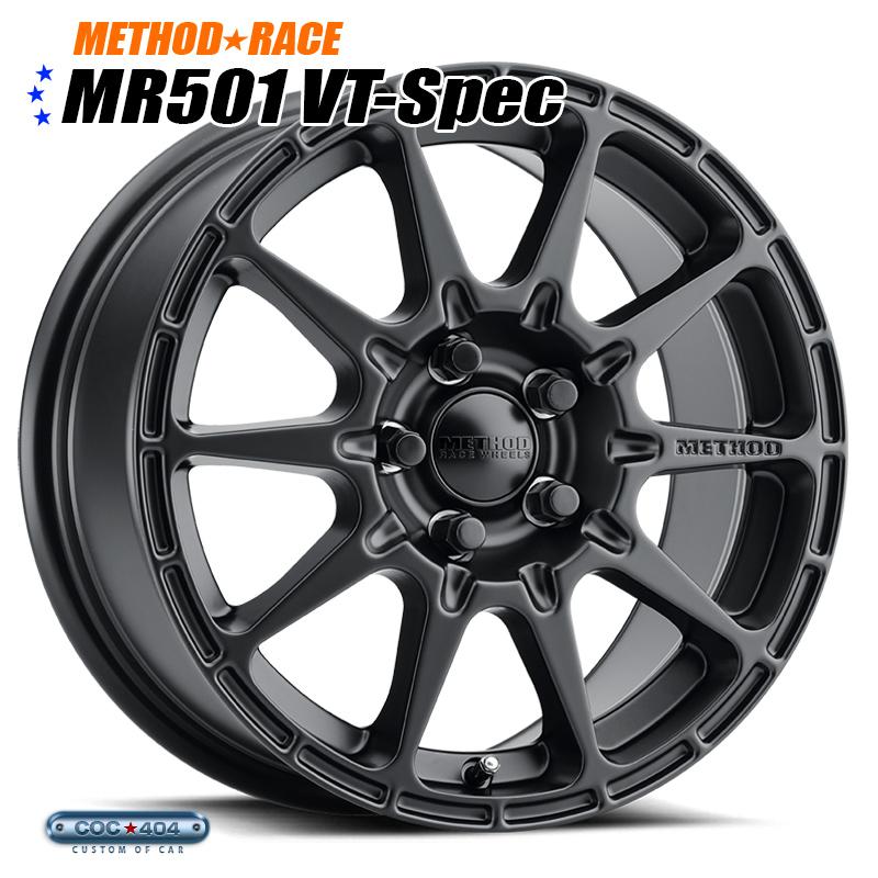 【15インチ】Method Race MR501 Rally VT-Spec マットブラック 1本 スバル XV インプレッサ レガシー など