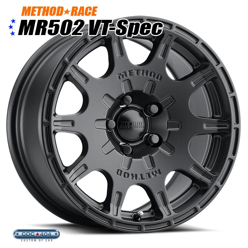 【15インチ】Method Race MR502 Rally VT-Spec マットブラック 1本 スバル インプレッサ レガシー XV フォレスター など