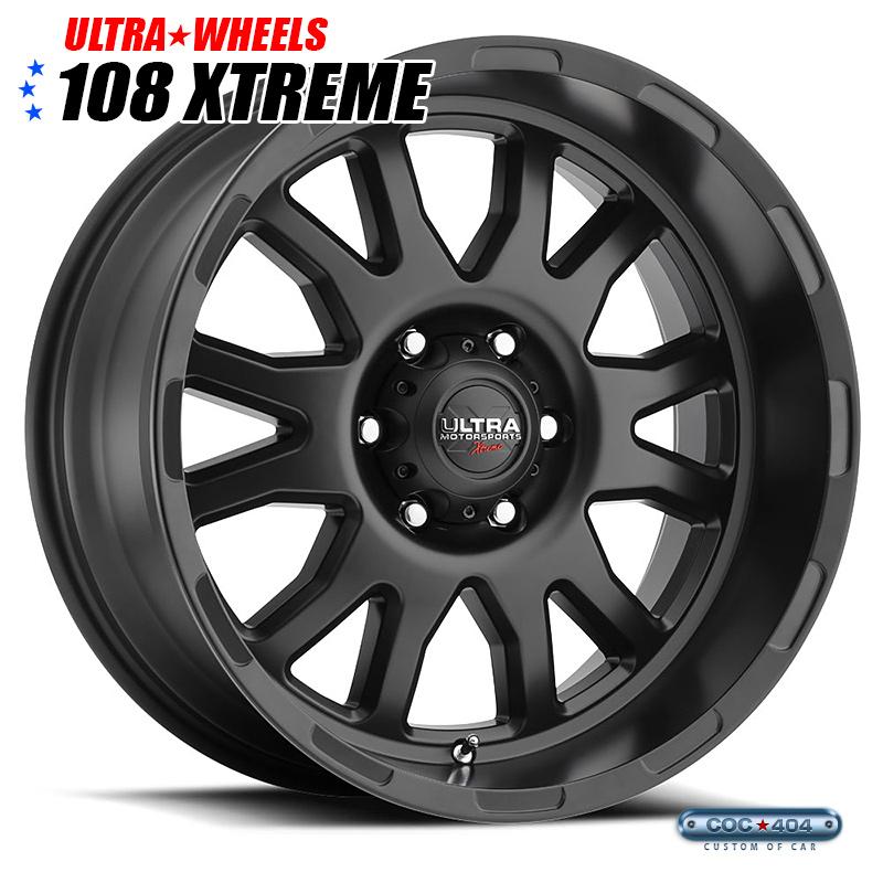 【 20インチ】Ultra X108 Xtreme サテンブラッ 1本