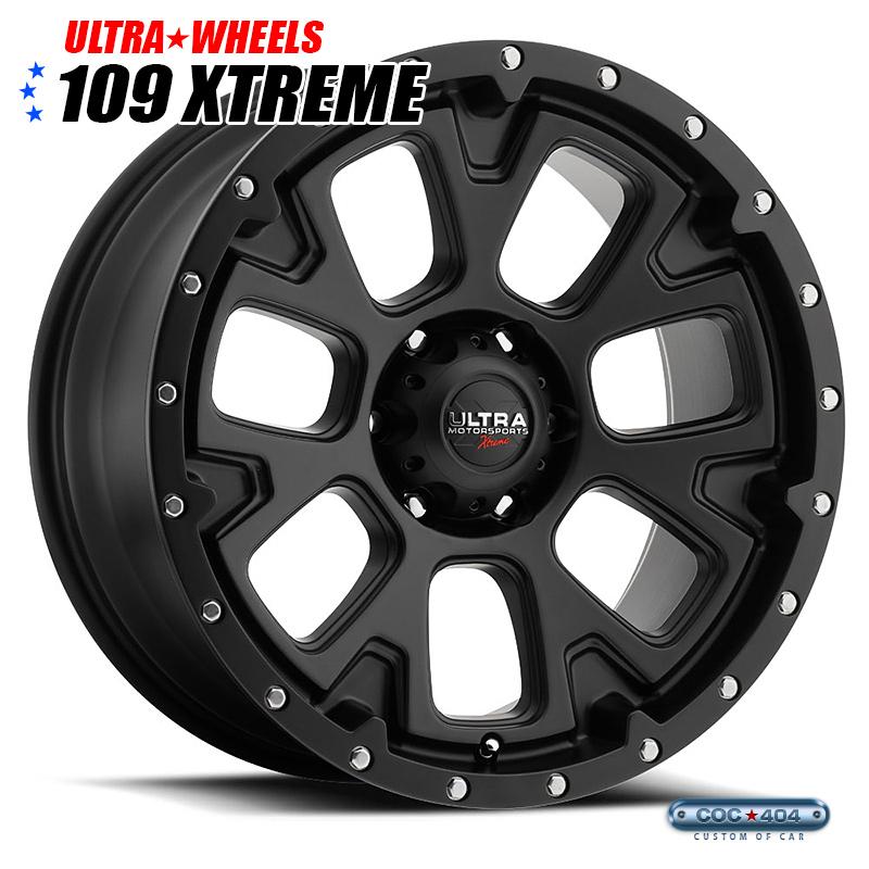 【18インチ】Ultra X109 Xtreme サテンブラック 1本