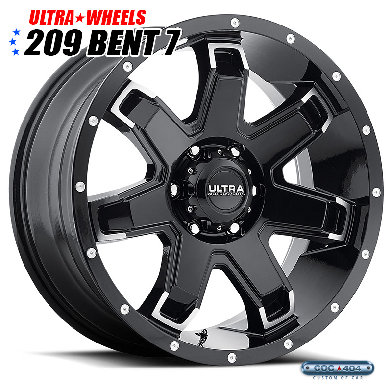 【20インチ】Ultra 209 Bent7(ベントセブン) グロスブラック&ダイヤモンドカット 1本