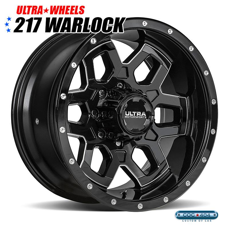 【18インチ】Ultra 217 Warlock(ワーロック) グロスブラック 1本