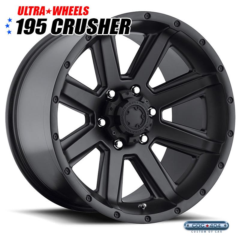 【20インチ 9J】Ultra 195SB Crusher サテンブラック 1本