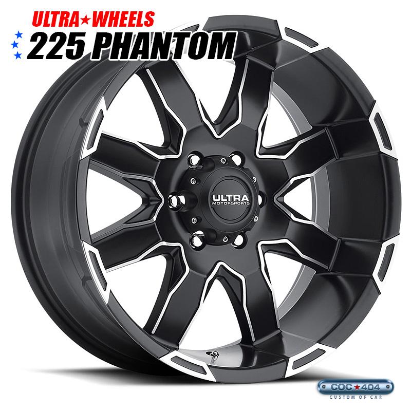 【20インチ】Ultra 225 Phantom サテンブラック&ダイヤモンドカットアクセント 1本