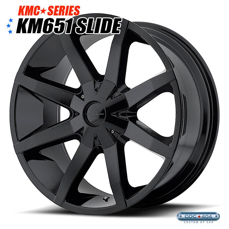 【26インチ 10J】KMC KM651 Slide (スライド) グロスブラック 1本
