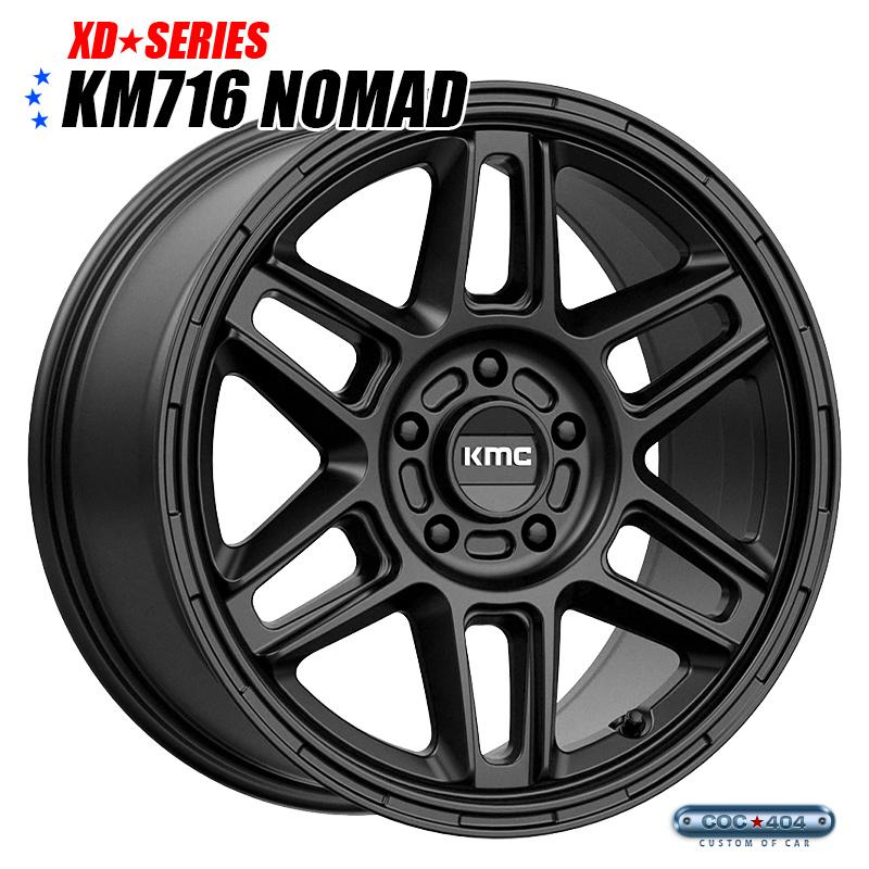 【18インチ】KMC KM716 Nomad サテンブラック 1本