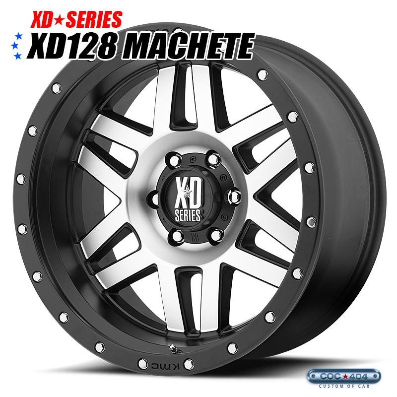 【20インチ 9J】KMC XD128 Machete (マチェーテ) サテンブラック&シルバー 1本