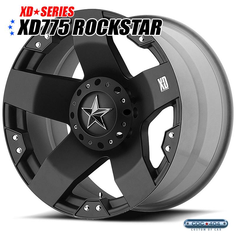 【17インチ 9J】KMC XD775 Rockstar (ロックスター) マットブラック 1本