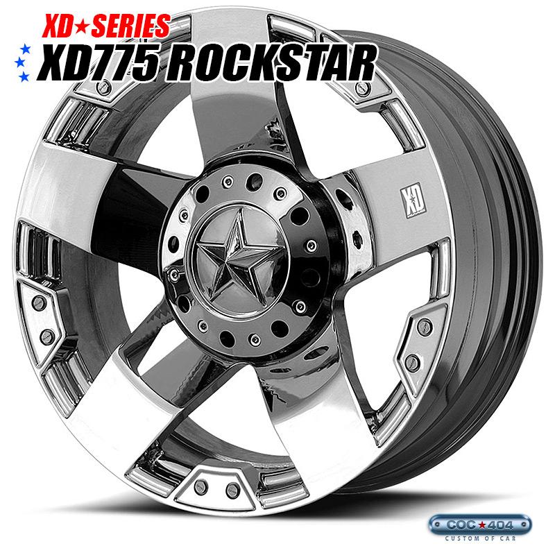 【22インチ 9.5J】KMC XD775 Rockstar (ロックスター) クローム 1本