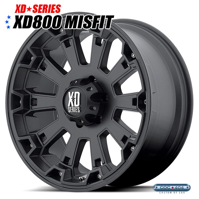 【17インチ】KMC XD800 Misfit (ミスフィット) マットブラック 1本