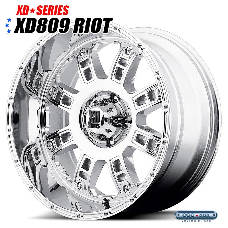 【20インチ 10J】KMC XD809 Riot (ライオット) クローム 1本
