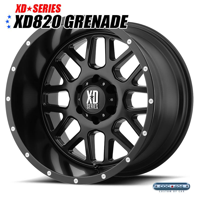 【20インチ 10J】KMC XD820 Grenade (グレネード) サテンブラック 1本