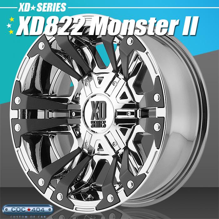 【20インチ 9J】KMC XD822 Monsterll (モンスター2) PVDクローム&ブラック 1本