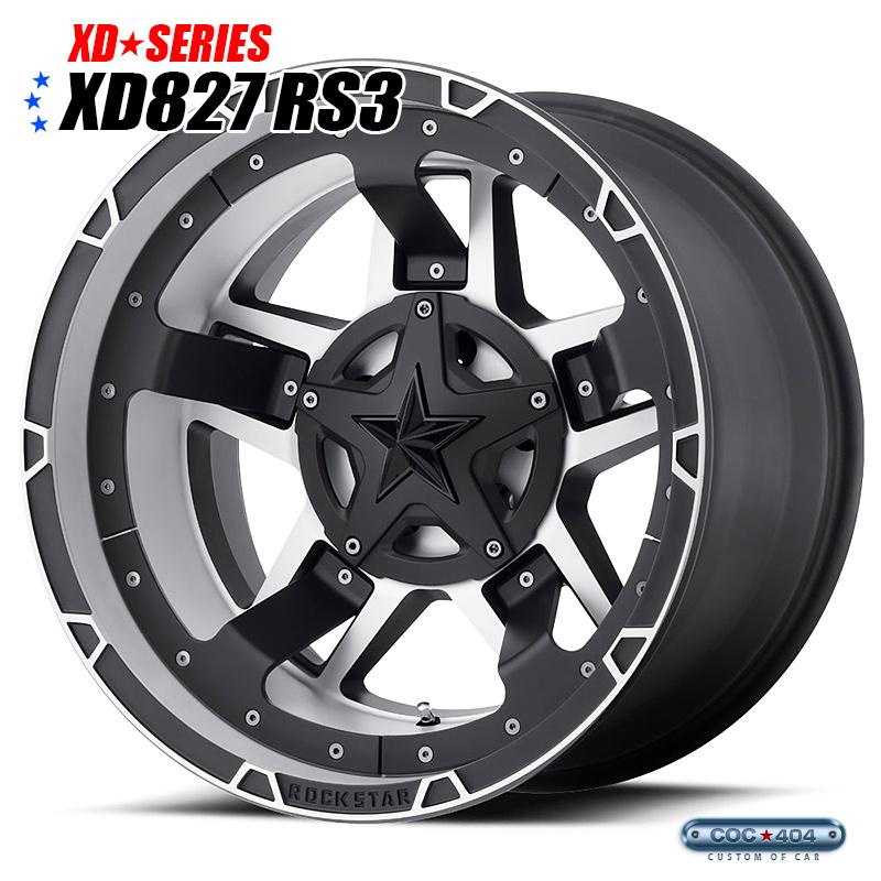 【20インチ 10J】KMC XD827 RS3 Rockstarlll (ロックスター3) マットブラック&シルバー 1本