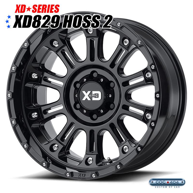 【20インチ 10J】KMC XD829 Hoss2(ホス2)グロスブラック 1本