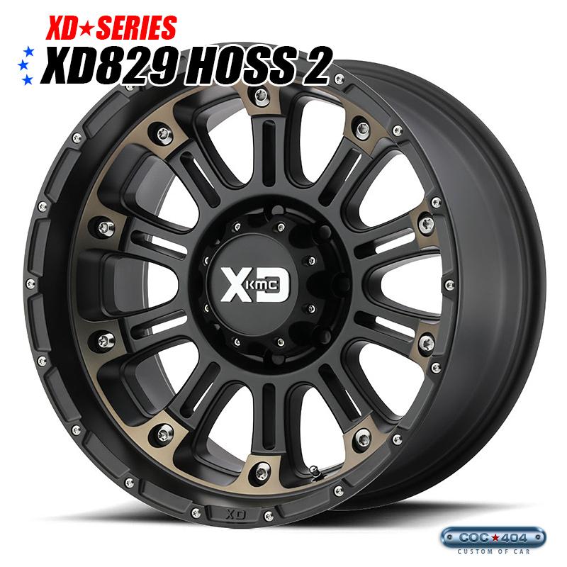 【18インチ】KMC XD829 Hoss2(ホス2)サテンブラック&ダークティント 1本