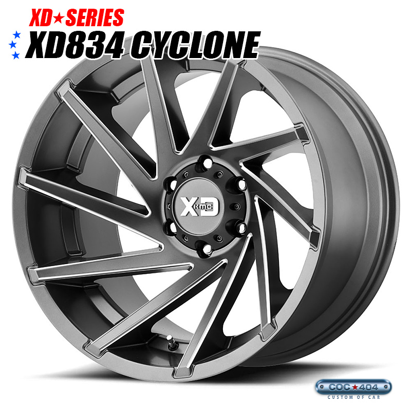 【20インチ 9J】KMC XD834 Cyclone サテングレー 1本
