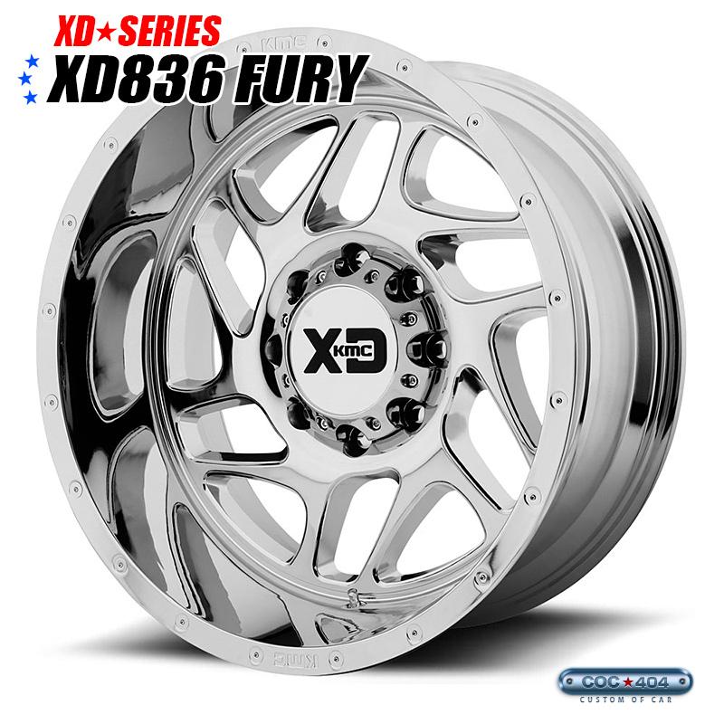 【20インチ 12J】KMC XD836 Fury クローム 1本