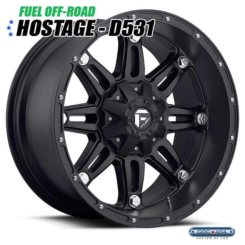 【20インチ】Fuel Offroad D531 Hostage(フューエルオフロード ホステージ) マットブラック 1本