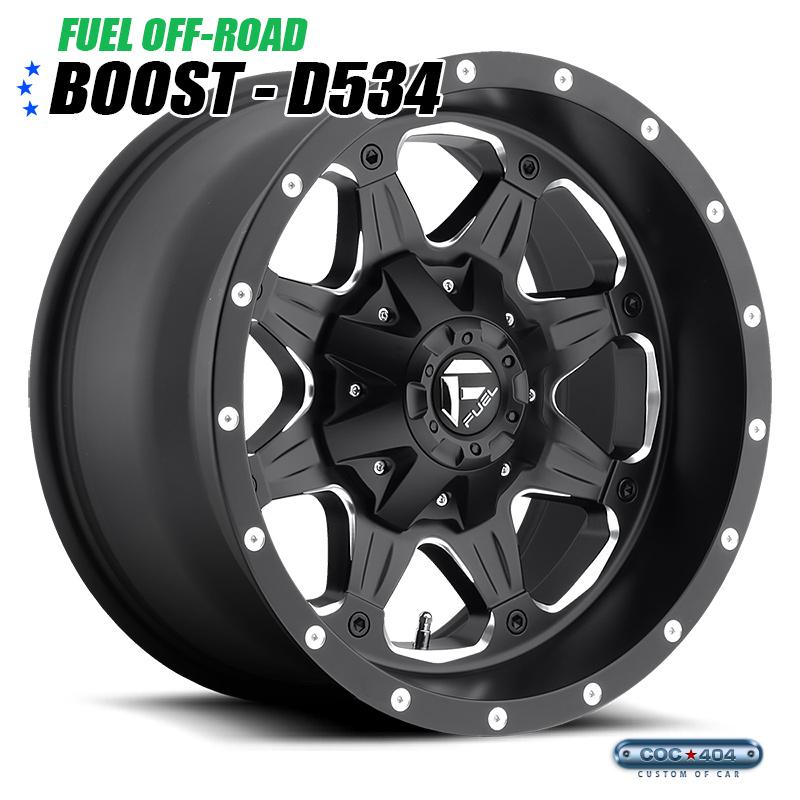 【20インチ】Fuel Offroad D534 Boost マットブラック&シルバーアクセント 1本