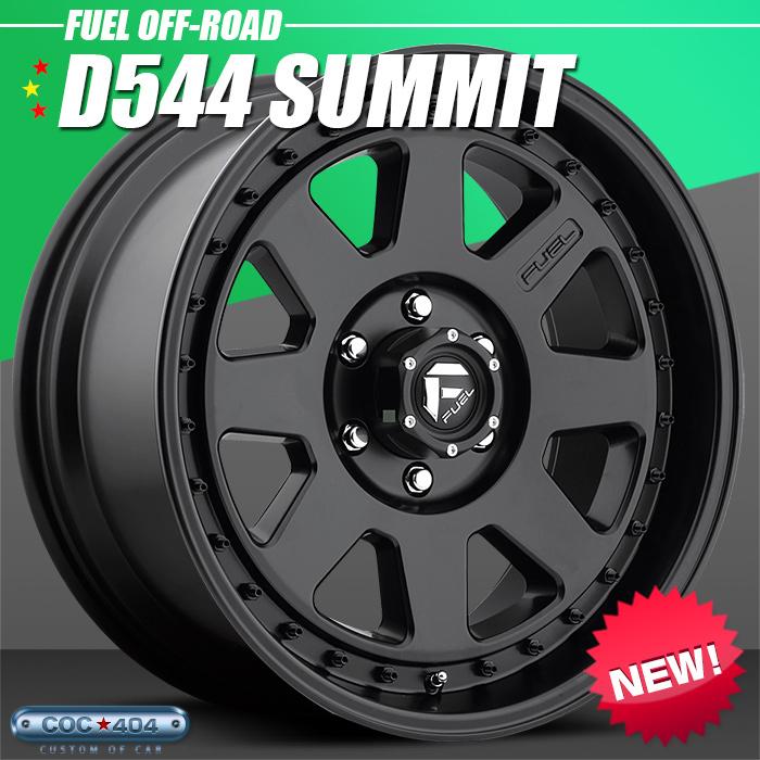 Fuel Offroad D544 Summit マットブラック 20インチ 9J 1本