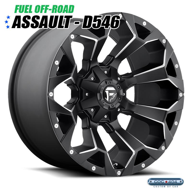 【18インチ】Fuel Offroad D546 Assault マットブラック&シルバーアクセント 1本