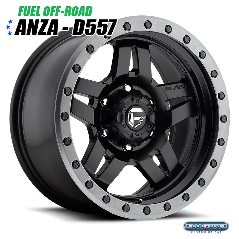 【16インチ】Fuel Offroad D557 Anza マットブラック&グレーリング 1本