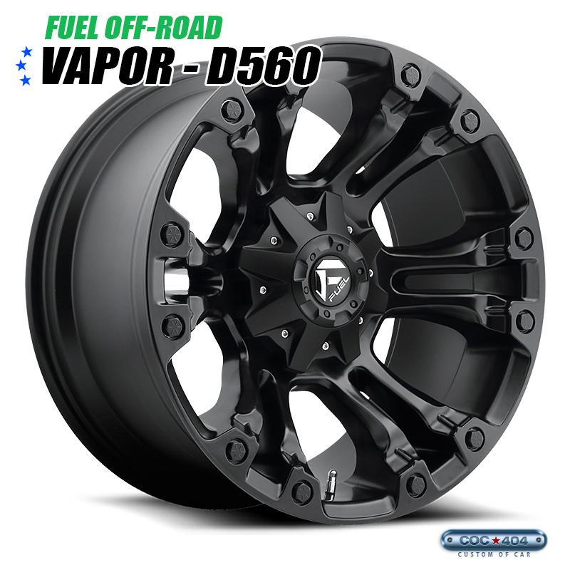 【20インチ 9J】Fuel Offroad D560 Vapor マットブラック 1本