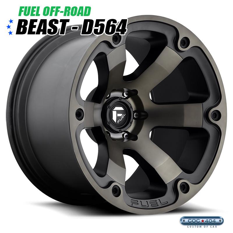 【20インチ 10J】Fuel Offroad D564 Beast マットブラック&ダークティント 1本