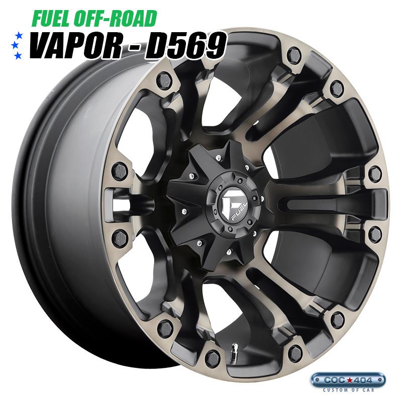 【20インチ 10J】Fuel Offroad D569 Vapor マットブラック&ダークティント 1本