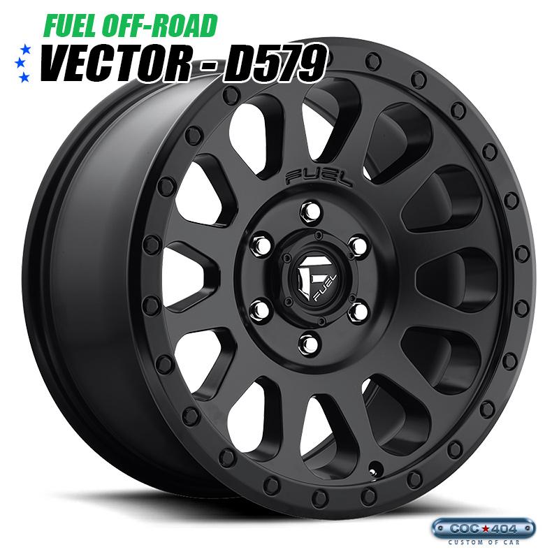 【16インチ】Fuel Offroad D579 Vector (フューエルオフロード ベクター) マットブラック 1本