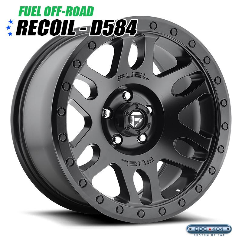 【20インチ】Fuel Offroad D584 Recoil (フューエルオフロード リコイル) マットブラック 1本
