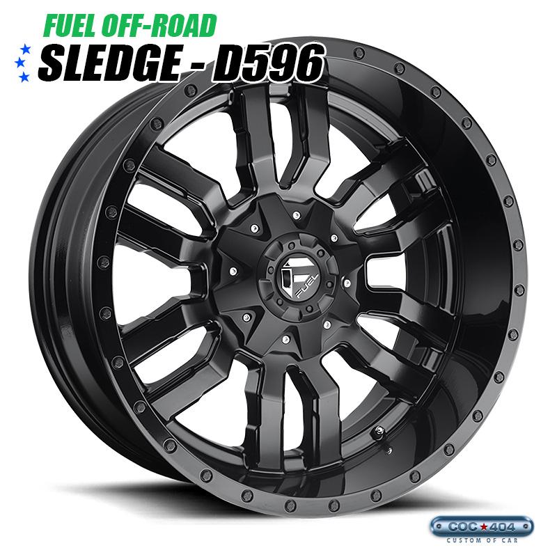 【20インチ 10J】Fuel Offroad D596 Sledge マットブラック 1本