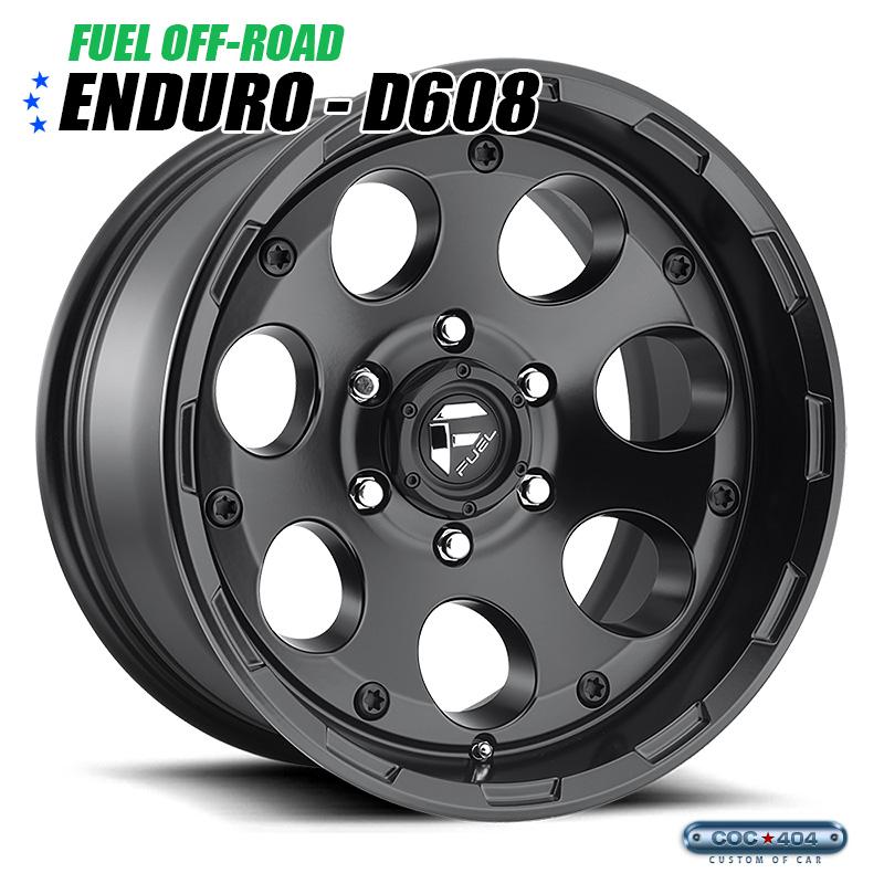 【20インチ 9J】Fuel Offroad D608 Enduro マットブラック 1本