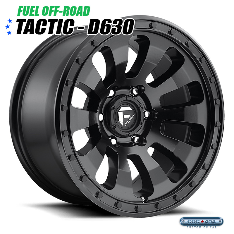 【18インチ 9J】Fuel Offroad D630 Tactic マットブラック 1本