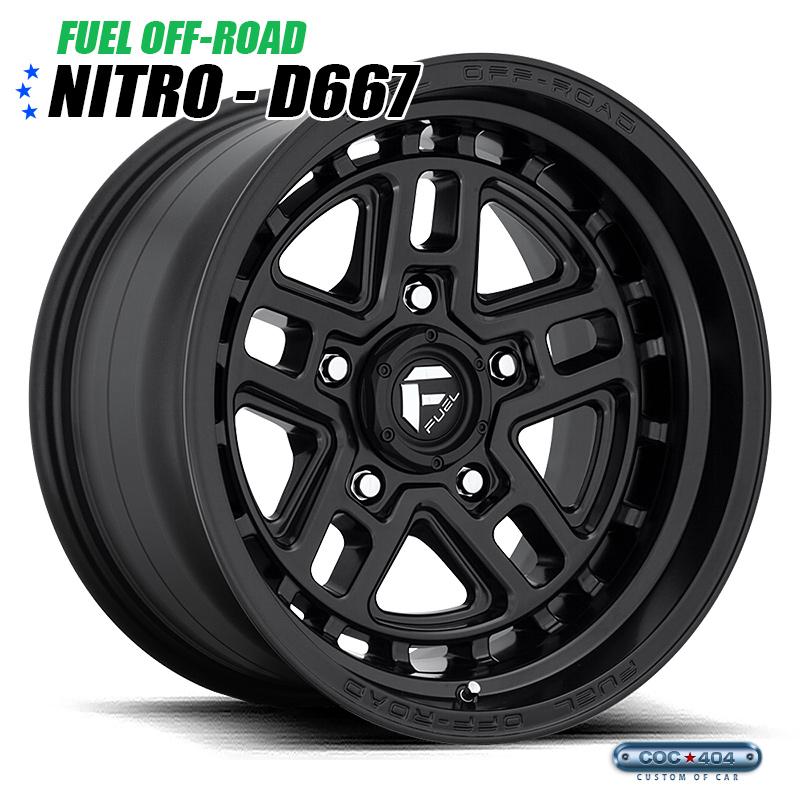 【17インチ 9J】Fuel Offroad D667 Nitro マットブラック 1本