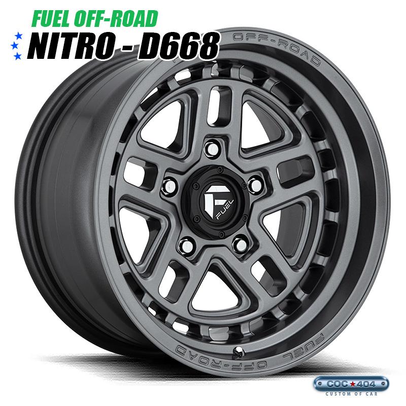 【17インチ 9J】Fuel Offroad D668 Nitro マットグレー 1本