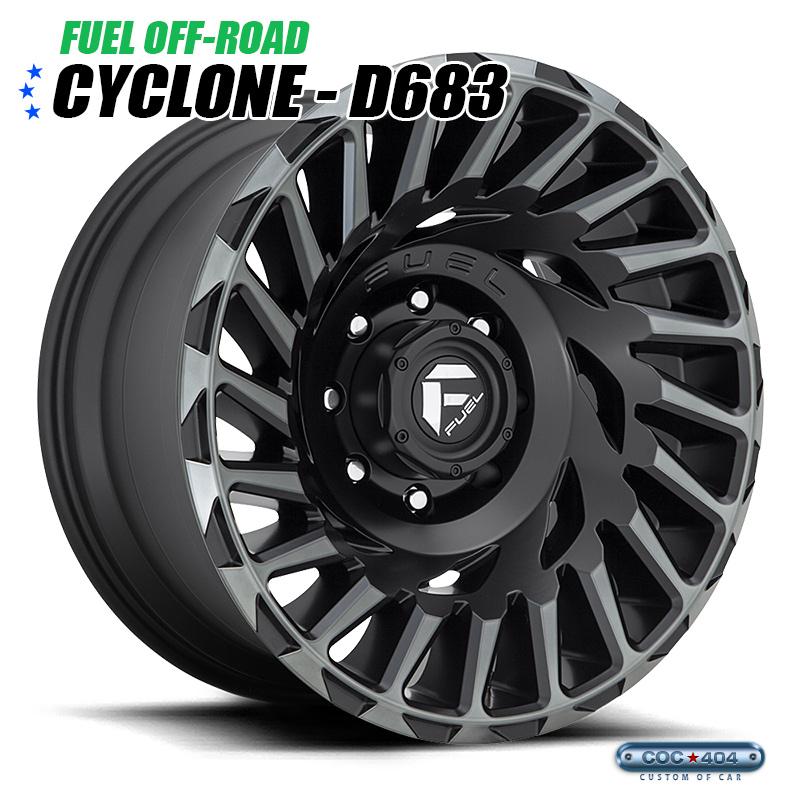 【20インチ10J】Fuel Offroad D683 Cyclone マットブラック&ダークティント 1本