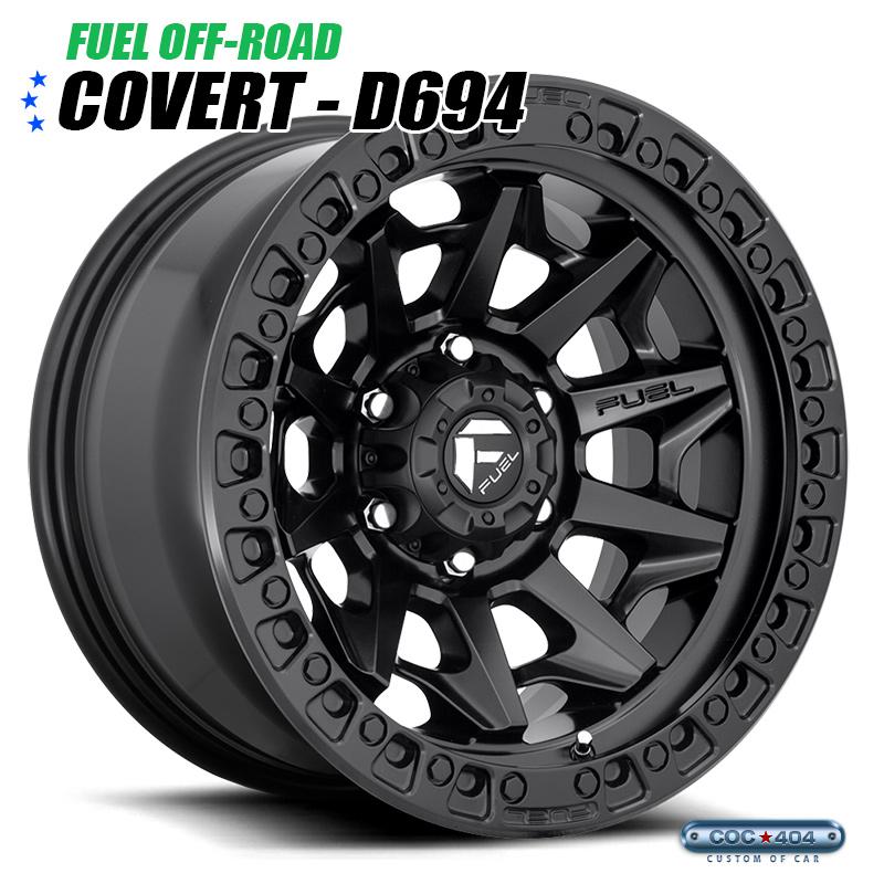 【17インチ】Fuel Offroad D694 Covert マットブラック 1本