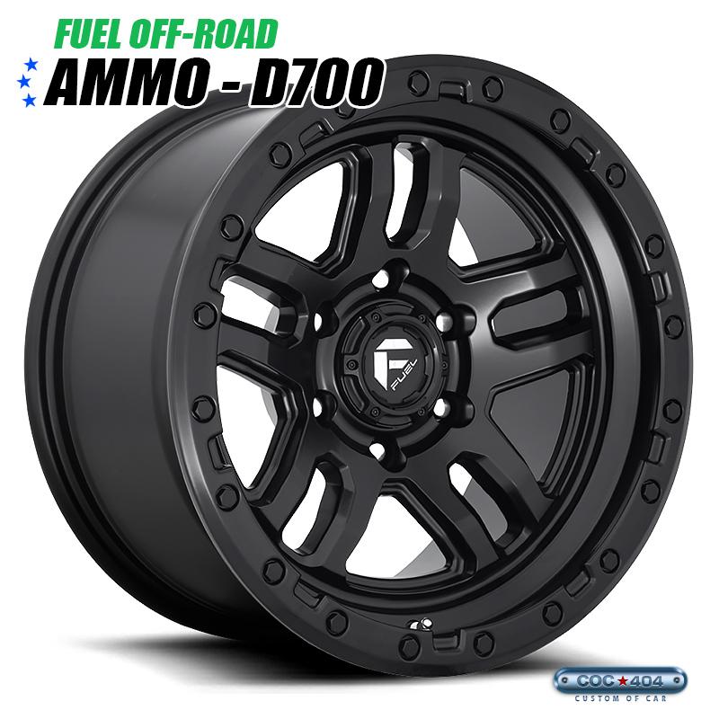 【20インチ】Fuel Offroad D700 Ammo マットブラック 1本