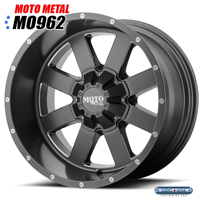 【20インチ 9J】MOTO METAL MO962 サテングレー 1本