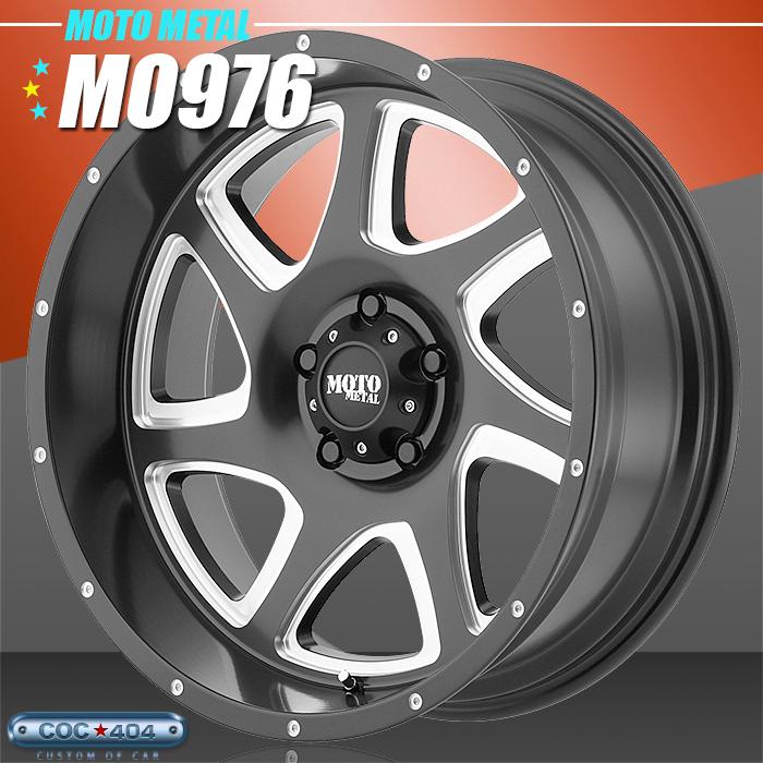 【18インチ】MOTO METAL MO976 サテンブラック&シルバーアクセント 1本