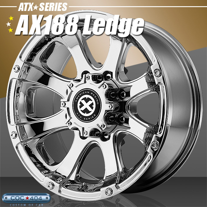 American Racing ATX AX188 Ledge(レッジ)クローム 15インチ 1本