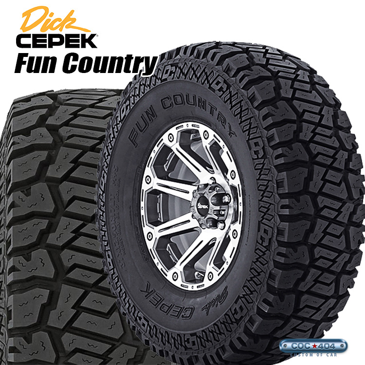 31X10.5R15LT DICK CEPEK Fun Country BK 31-10.5-15LT オフロードタイヤ of
